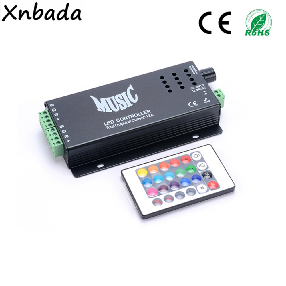 RGB Led Strip Music IR Led Controller 24Keys Wireless IR Remote Music Sound Control DC12-24V free shipping 20pcs lot 2sc1675 y 2sc1675 c1675 transistor to 92 npn transistor