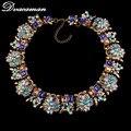 2014 hot sale ZA brand design necklace multicolor vintage necklace high quality for women statement necklace wholesale