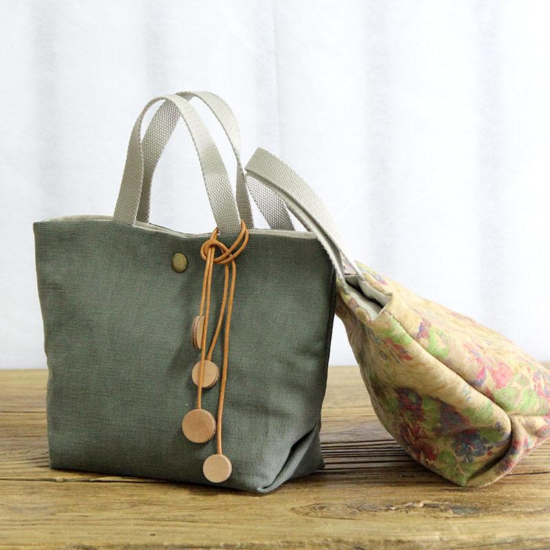 AETOO Art cotton linen single small bag light miniature female art cloth simple canvas handbag mini bag women