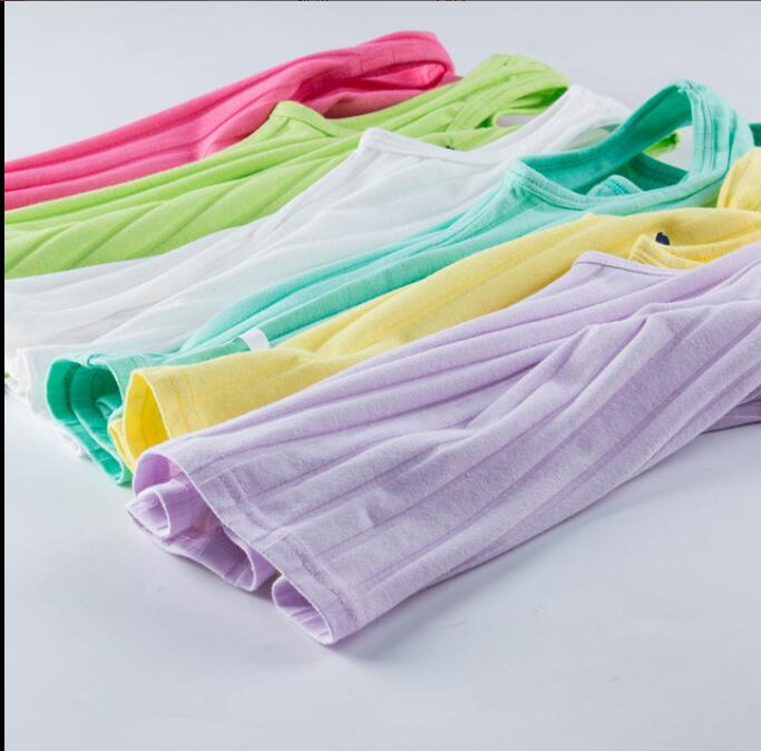 kids girls undershirts cotton Lycra O NECK candy base bottoming flower 3pies lot SOFT Close fitting girls Wild clothes shirt in Undershirts Tanks Camisoles from Mother Kids