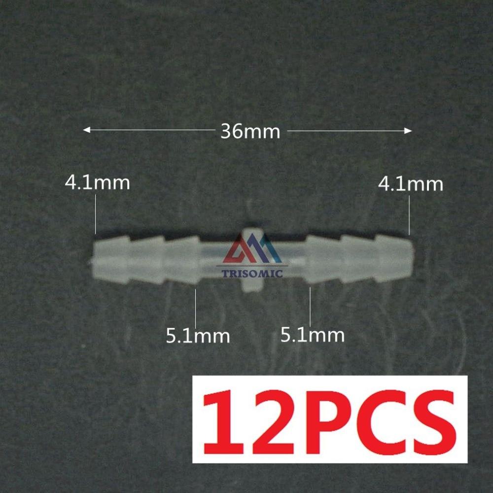 Heimwerker Kreativ 12 Stücke 4,1mm Gerade Verbindungskunststoffrohr Fitting Barbed Stecker Pp Schlauch Pvc Rohr Joiner Fitting Aquarium