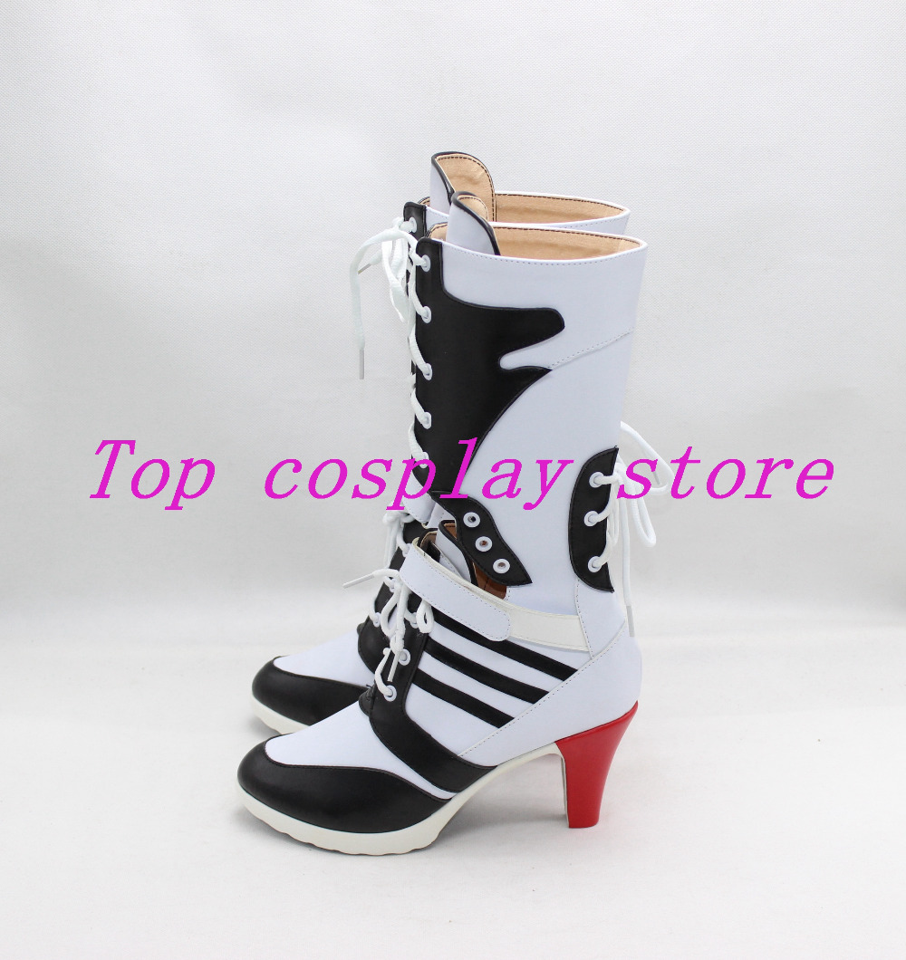 f41ba0da041 Batman Suicide Squad Harley Quinn Male version cos Cosplay Shoes Boots shoe  High Heel