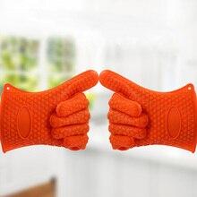 Термостойкая Силиконовая прихватка, толстая кухонная рукавица для Гриль-барбекю, перчатка для выпечки, кухонная перчатка для барбекю, кухонные гаджеты