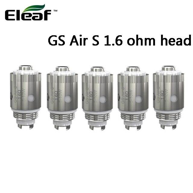 Eleaf-bobina GS Air S de 1,6 ohm para cigarrillo electrónico, repuesto para cigarrillo electrónico, 5 unidades por lote