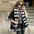 Genuine Women Fur Scarves Cashmere Fox Fur Cachecol Warm Trendy Female Pashmina Solid Fashion Shawl Ponchos Cape-style Shawl