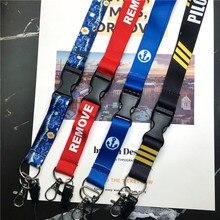 Перед полетом ремешки для ключей шейный ремешок для карт Значки для спортзала брелок для ключей ремешок держатель для ключей DIY висячая Веревка Брелок correa cuello