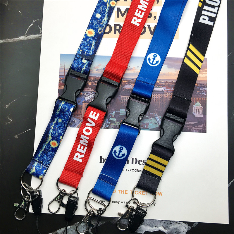Before Flight Lanyards For Key Neck Strap For Card Badge Gym Key Chain Lanyard Key Holder DIY Hang Rope Keychain Correa Cuello