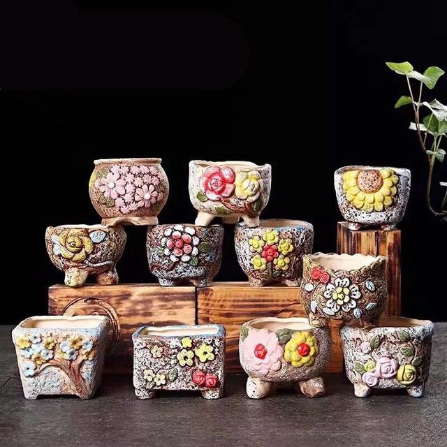 Pflanzer Nette Hand Bemalt Sukkulenten Blumentopf Klassische Retro