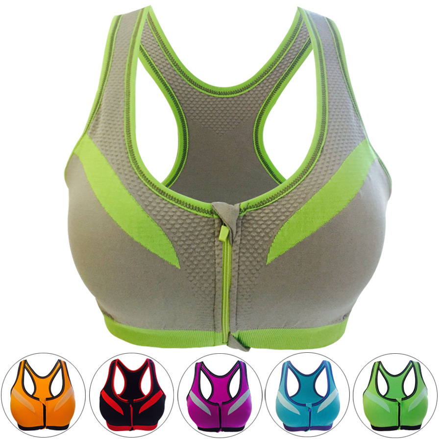 BHWYFC Sports Bra Women Fitness Padded Professional Shockproof Zipper - Sportswear and Accessories - Photo 2