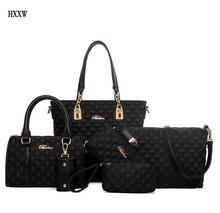 Mode Diamantgitter Frauen Marken Oxford Frauen Umhängetaschen Damen Handtasche + Crossbody Tasche + Wallet + Purse 6 Sätze H291
