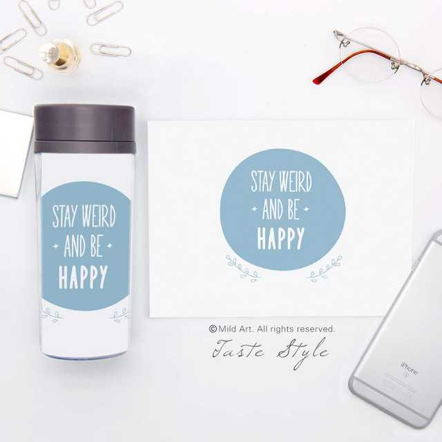 plastic insulated mini st smile quotes kids cute water bottles