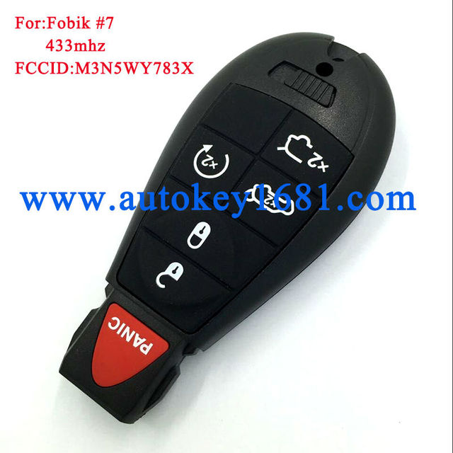M3n5wy783x Remote Key 5 1on 433mhz Car For Chrysler 2008 2010 Jeep Commander Grand Cherokee