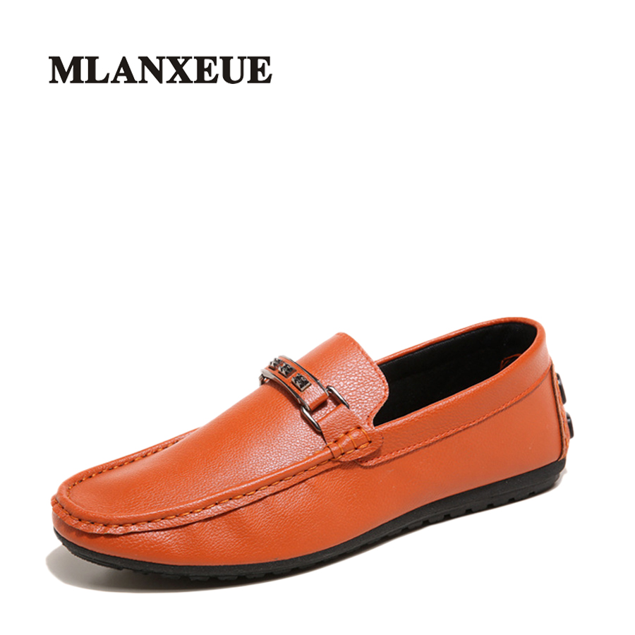 Mlanxeue Men Dress Shoes Male Spring Insert Rhinestones Flat Shoes Business Work Loafers Low Upper Driving Shoes