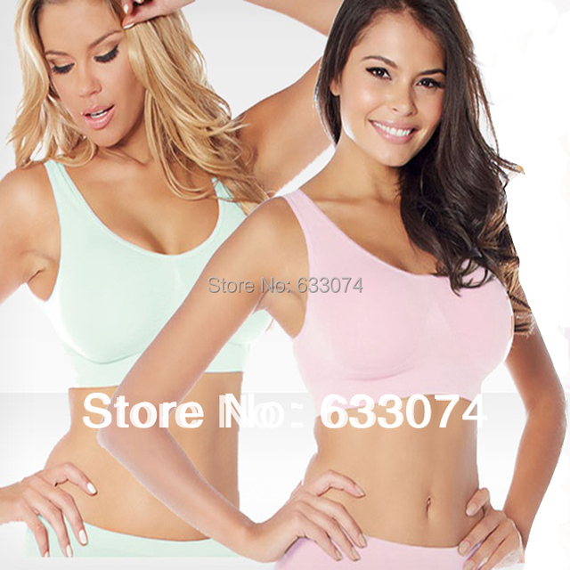 9ef7a486df 3pcs lot Seamless Rhonda Ahh bra Leisure Genie Bra with removable pads -  free shipping sport bra