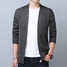 2017 Hot Sale Brand-Clothing Cardigan Male Fashion Solid Color Slim Sweater Men Casual Mens Sweaters