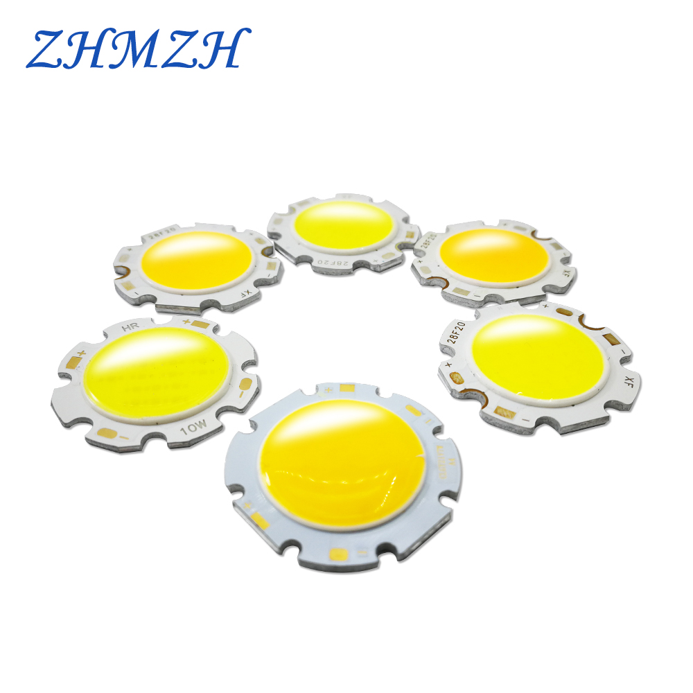 5pcs/lot 3W 5W 7W 9W 10W COB LED Chip Surface Light Source For 20-28MM Downlight & Panel Lights Special COB Lamp LED SMD Chips