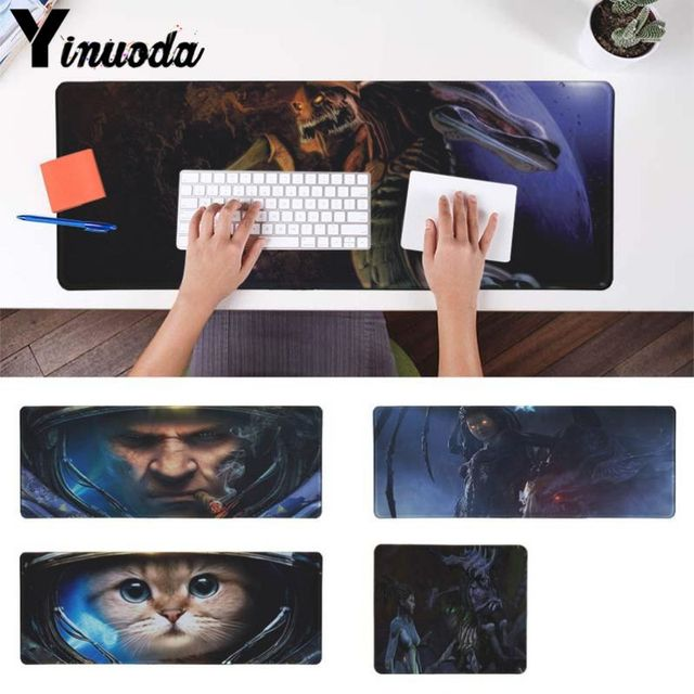 Yinuoda New Printed starcraft 2 cat Large Mouse pad PC Computer mat  Natural Rubber Gaming mousepad Desk Mat for dota 2 lol