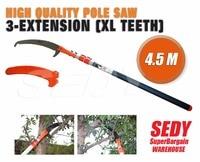 4 5m Telescopic Pole Pruner Saw Pruning Cutter Steel Garden Shear Extendable