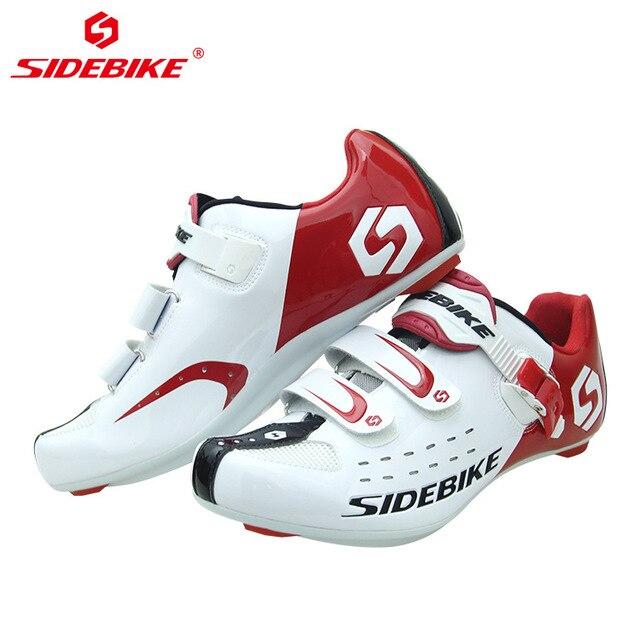Sidebike sapatos profissionais para ciclismo, antiderrapante, com cadarço, para bicicleta atlética, confortável, bicicleta de estrada 6