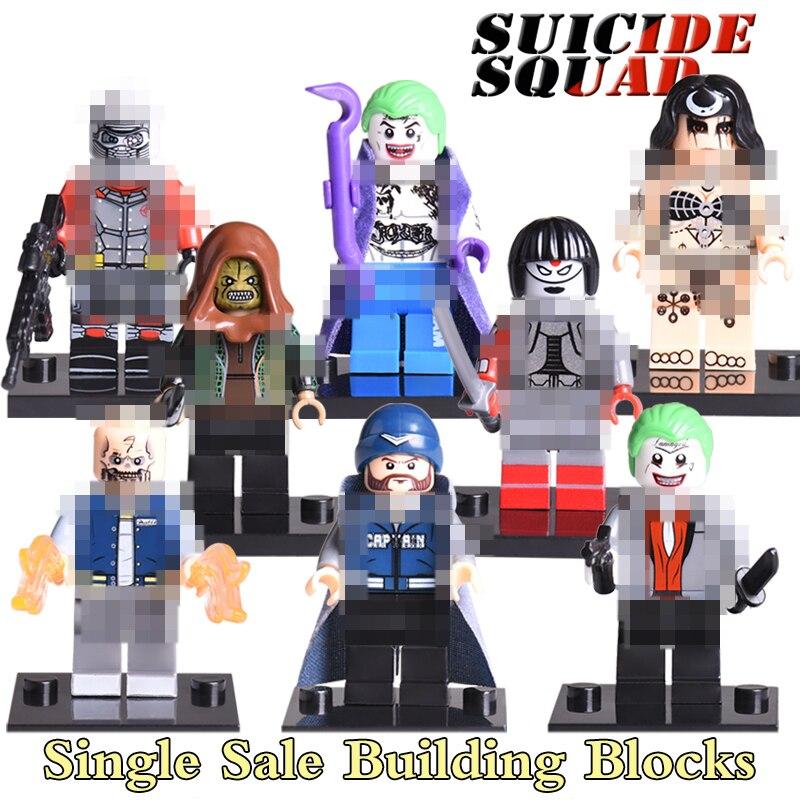 Джокер Бумеранг убийца Крок Катана Дэдшот отряд самоубийц Чародейка кирпич Super Heroes DIY цифры подарки для детей игрушка X0122