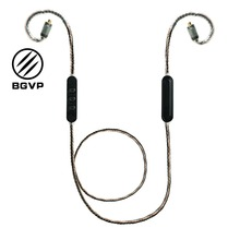 BGVP M1 earphones bluetooth 4.2 MMCX interchangeable upgrade cable hifi wire control single crystal copper plated silver DM6 bgvp m1 apt x bluetooth v4 2 cable for mmcx earphones hifi 8 core occ silver plated cable with microphone for shure for ue