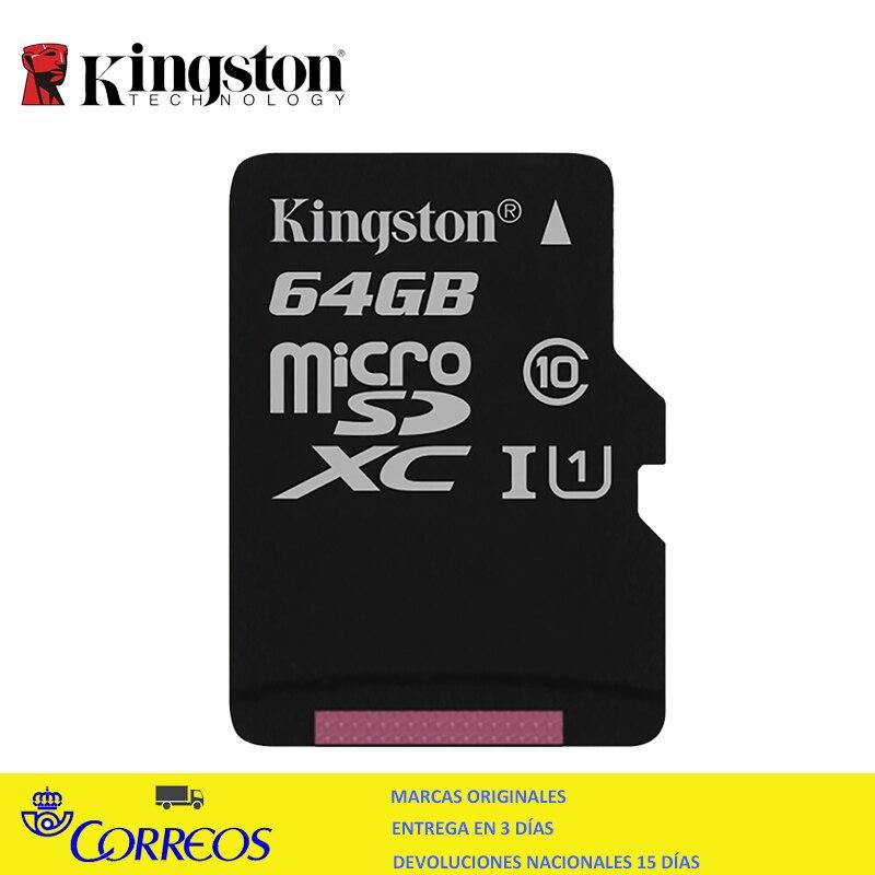 As Kingston microsdxc 64 gb tarjeta de memoria clase 10 UHS-I 80mb//s sdcs//64gb