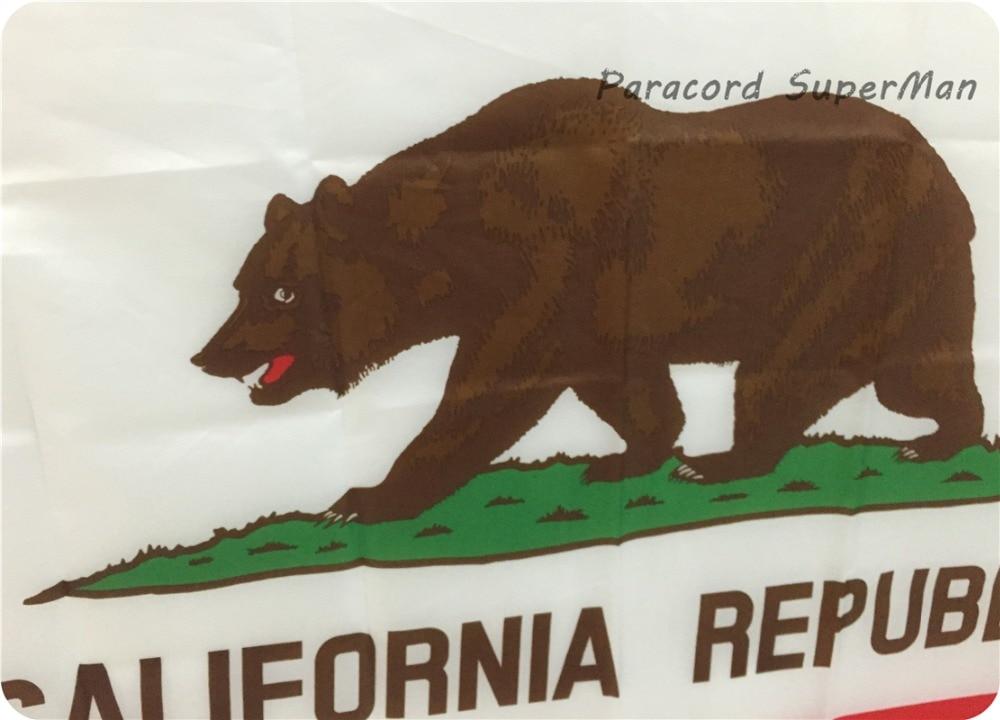Ayı Bayrağı 3 * 5FT 90 * 150sm asılmış California Respublikası - Komanda idman növləri - Fotoqrafiya 4