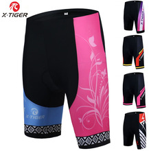 Cycling-Shorts X-Tiger Padded Mountian Women Coolmax Shockproof Racing 3D