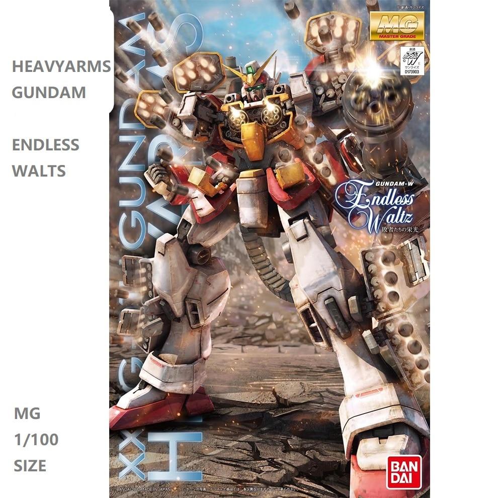 Japaness Original Gundam MG 1/100 Model  Heavy Arms HeavyArms Gundam 00 Mobile Suit Kids Toys With Holder