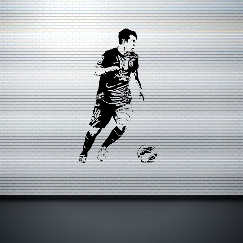 soccer stars SPORT GYM poster  home decoration decal vinyl wall - Home Decor - Photo 3
