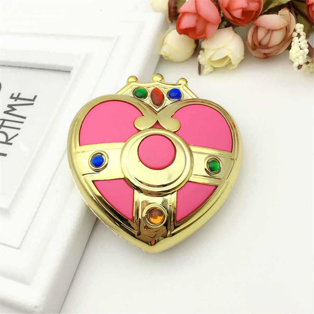Sailor Mond S Moonlight Speicher Serie Cosmic Herz Spiegel Fall Kompakte Kristall kosmetik bilden spiegel