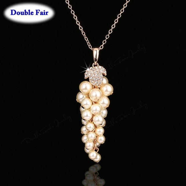 Klassische Simulierte Perlen Trauben Party Halsketten & Anhänger