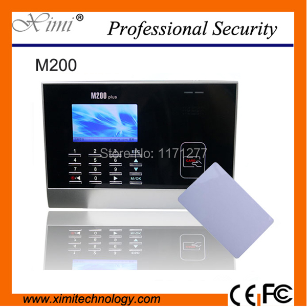 Linux system 13.56MHZ proximity card  LCD 3-inch color screen time recorder M200 employee time attendance machine turck proximity switch bi2 g12sk an6x