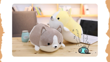 Squishy Corgi Dog Plush Toy