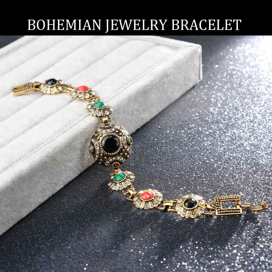 2017 mode bohemske armbånd til kvinder legering farve antikke guld - Mode smykker - Foto 6