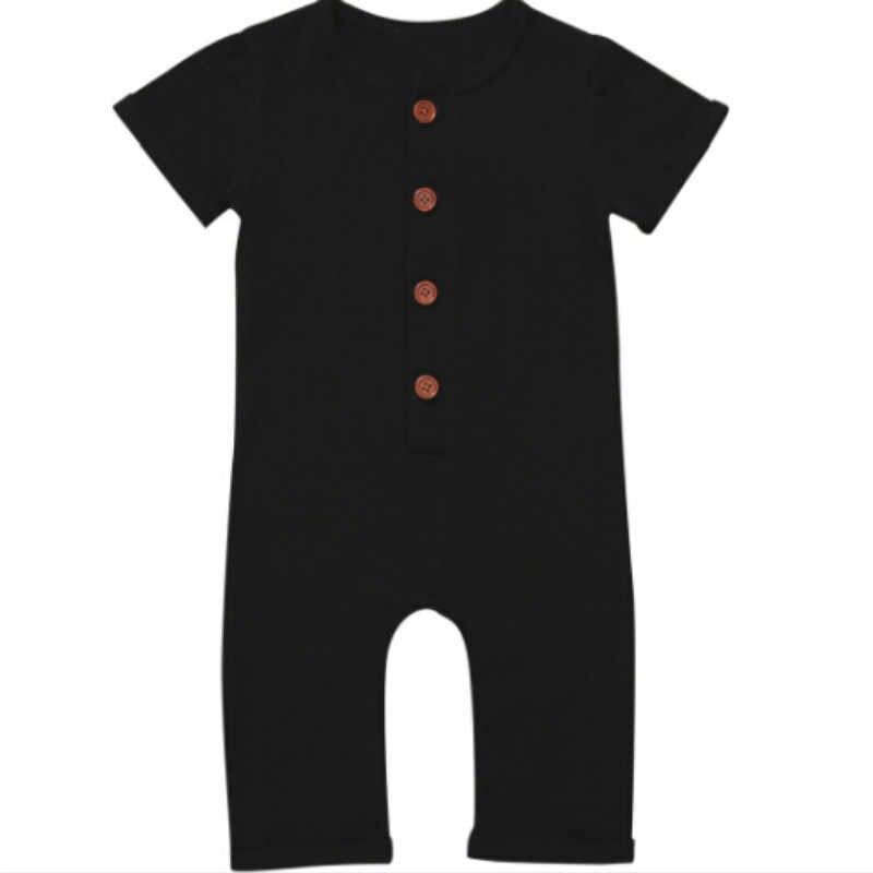 2017 Yaz Bebek Yenidoğan Erkek Bebek Kız Giysileri Romper Tulum Giysileri Kıyafetler Boyutu 0-24 M