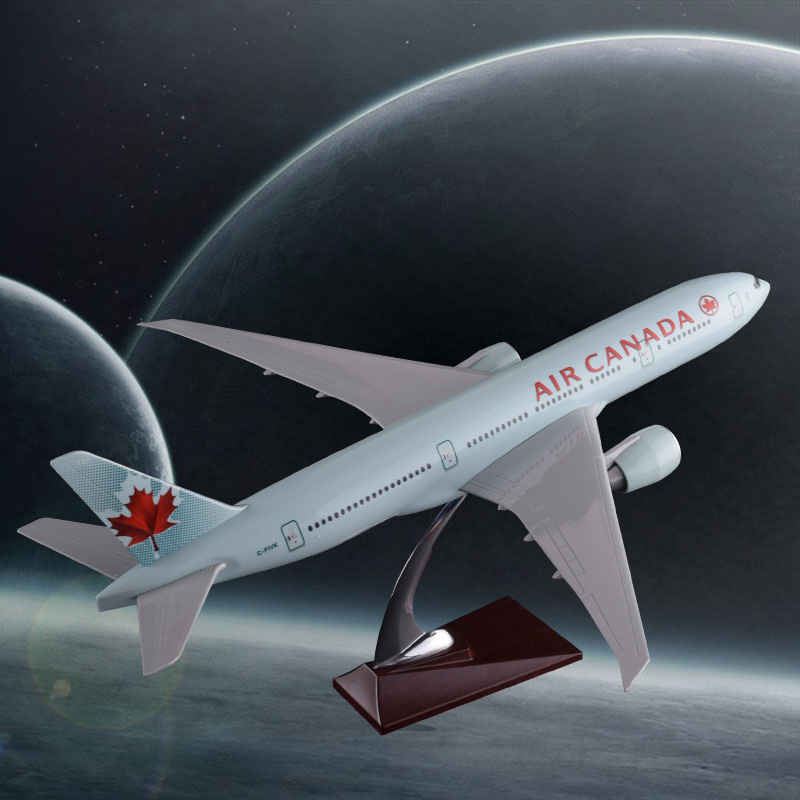 Prenoy 47cm Resin Boeing 777 Airplane Model Canadian Airways Air Canada Airlines B777 Aircraft Stand Model Plane Collection 1 200 boeing livery 777 b777 31cm metal alloy model plane aircraft model toys model w stand new year birthday collections gifts