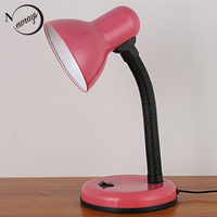 7 Color Modern Brief Adjustable Classic Office Desk Lamps E27 LED Table Lamp With Switch For