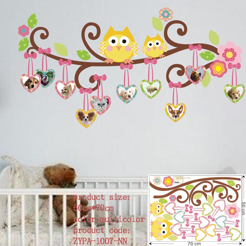 owl wall stickers for kids room decorations animal decals ...