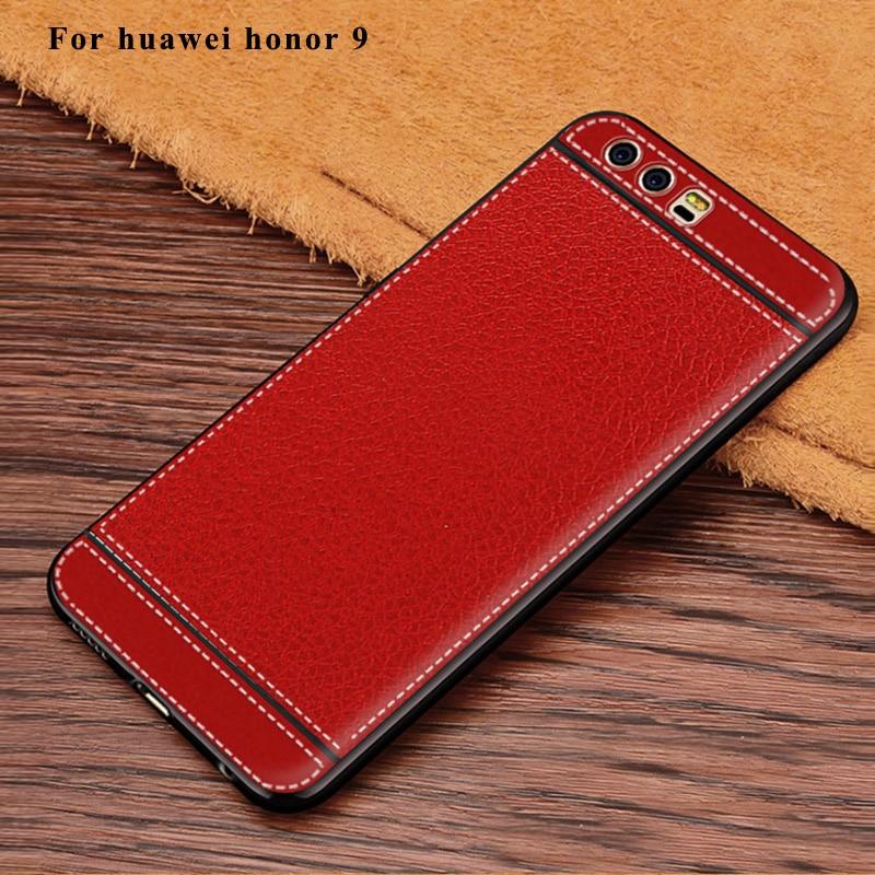 Θήκη σιλικόνης Litchi Cortex για Huawei Honor 9 - Ανταλλακτικά και αξεσουάρ κινητών τηλεφώνων - Φωτογραφία 2