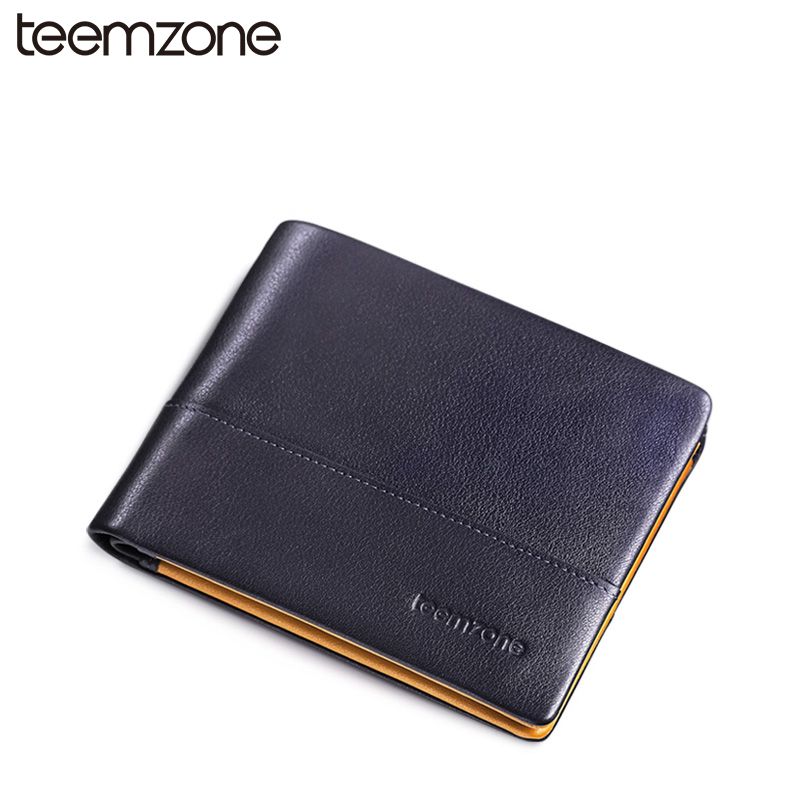 купить Fashion Sale Men Genuine Leather Cowhide Bifold Horizontal Wallet Credit Card Holder Cash Receipt Holder ID Photo Window 2 Size дешево