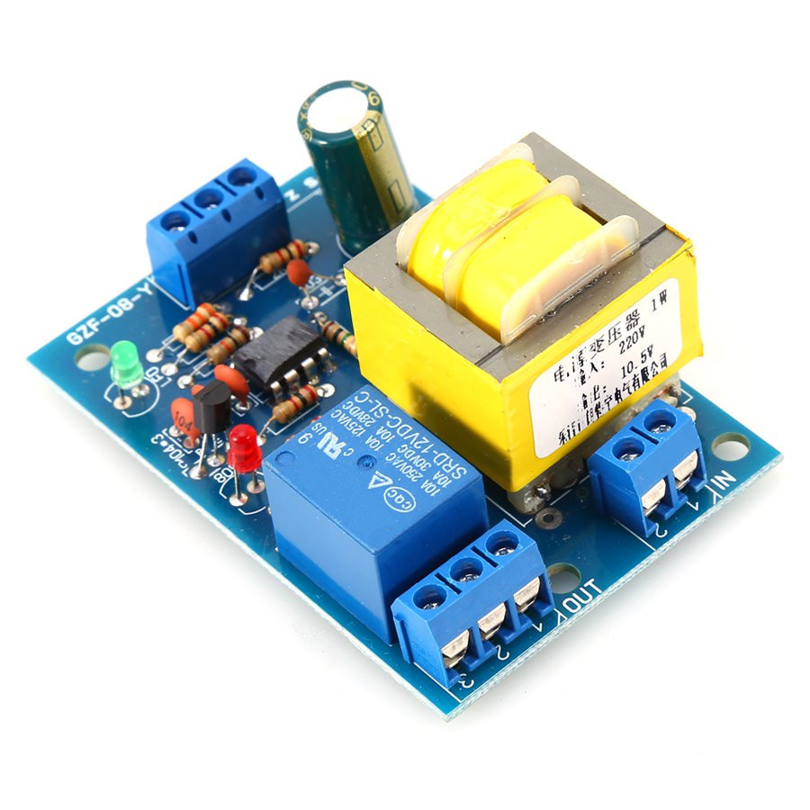 10A Liquid Level Controller Switch AC 220V Water Level Detection Sensor Module Liquid Level Controller Water Detection Relay