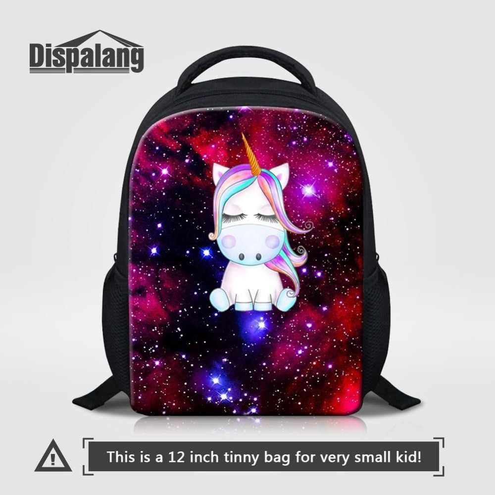 0208d4954fb1 Малый школьные сумки для детей пространство Вселенной с единорогом детский  сад рюкзак малышей школьный мини детские