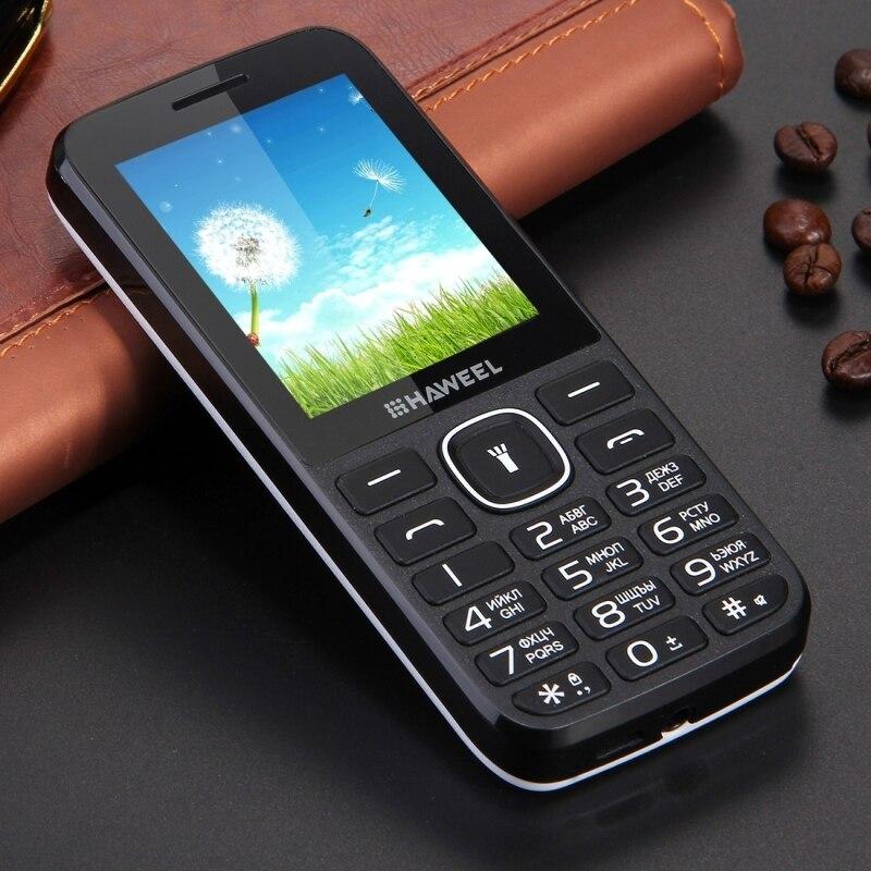 Цена за Haweel X1 Старейшин Мобильного Телефона GSM 2 Г Английский Клавиатура Сотового Телефона 2.4 дюймов Dual SIM Большой Динамик Старший Телефон FM TF Фонарик мобильный телефон