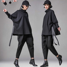 High Quality New Suit Female Irregular T shirt Large Size Bat Shirt Jacket Harem Pants Pants
