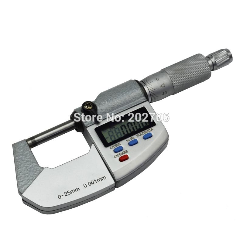 0 25mm 0.001mm IP65 Waterproof Digital Micrometer 25mm outside micrometer Caliper thickness gauge Electronic micrometer-in Micrometers from Tools    3