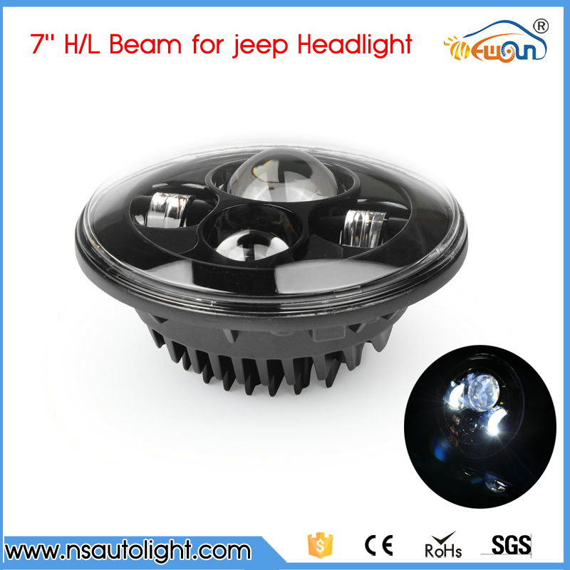 7 round 40w led headlight for Jeep Wrangler 10w cree xpg chips,off road 4x4 use motorcycle offroad truck SUV boat