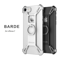 4.7 inch Nillkin for iphone 7 case bumper cover Aluminum alloy back Cover with ring phone holder for iphone7 case retail package