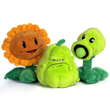 1PC 30cm Plants vs Zombies Pea Shooter Sunflower Squash Plush Toys Doll Soft Plush Toy Doll Game Baby Party toys birthday gift
