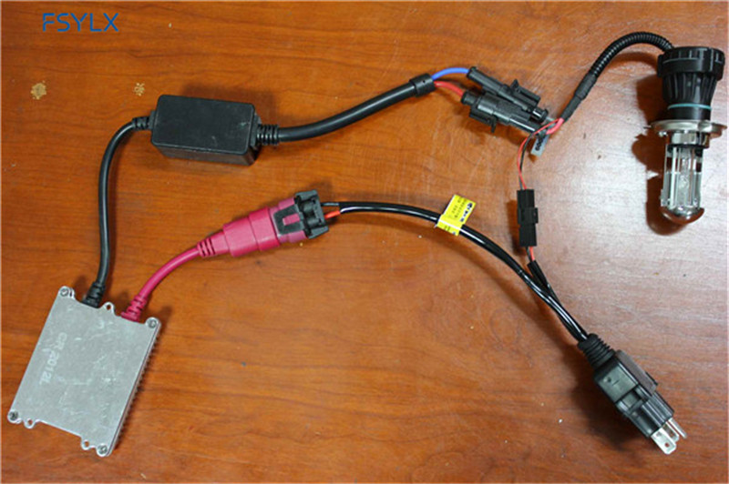 FSYLX Car H4 9003 HB2 HID wiring harness controller 35W 55W H4 HID Xenon Relay Harness fsylx car h4 9003 hb2 hid wiring harness controller 35w 55w h4 hid 55w hid wiring harness at edmiracle.co